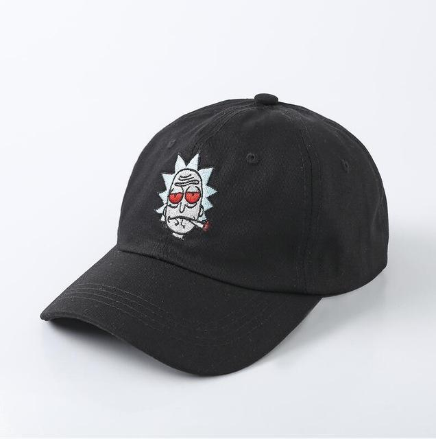 The New Us Animation Rick Caps Dad Hat Rick And Morty Hats Adjustable  Casquette High Quality 5dea8b439432