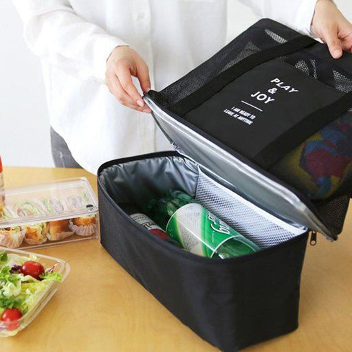 Thermal Lunch Bags Handbag For Women Adults Food Picnic Cooler Bag Insulated Storage Container-Functional Bags-Queen's Bag Store-black-EpicWorldStore.com