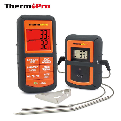 Thermopro Tp-08 100M Remote Wireless Food Kitchen Thermometer Dual Probe For Bbq, Smoker, Grill,-Household Merchandises-Thermo Pro Store-EpicWorldStore.com
