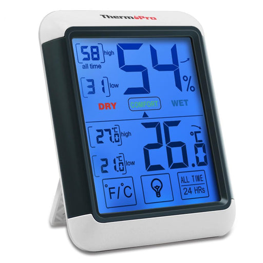 Thermopro Tp55 Digital Thermometer Hygrometer Indoor Outdoor Thermometer With Touchscreen And-Household Merchandises-Thermo Pro Store-EpicWorldStore.com