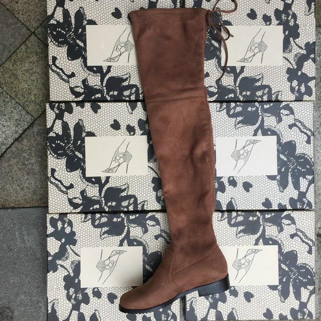 Thigh High Boots Female Winter Boots Women Over The Knee Boots Flat