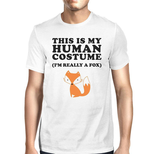 This Is My Human Costume Fox Mens White Shirt-Apparel & Accessories-365 Printing-X-LARGE-EpicWorldStore.com