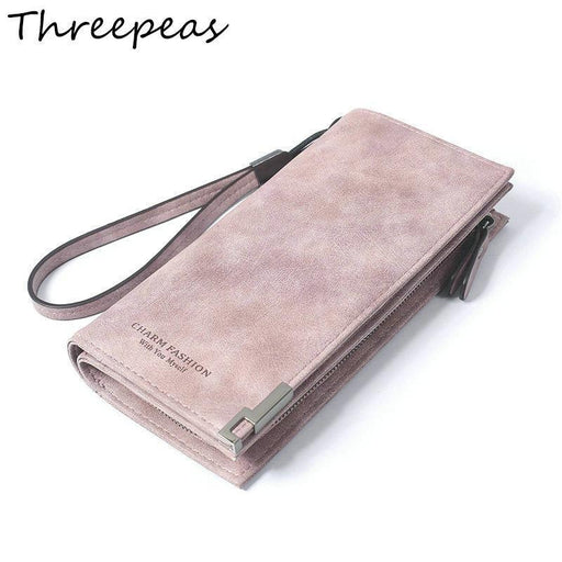Threepeas High Capacity Women Long Wallet Pu Leather Wallet Clutch Coin Purse Ladies-Wallets-Factory outlet bags-Black-EpicWorldStore.com