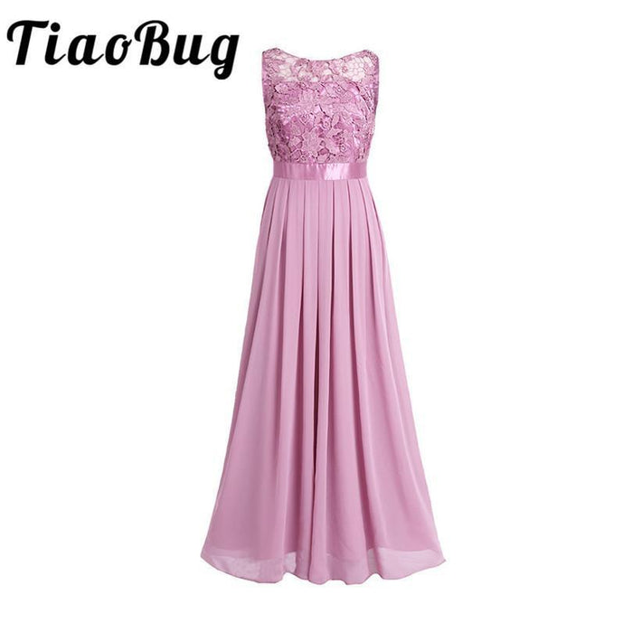 4217dae51 Tiaobug Lace Bridesmaid Dresses Long New Designer Chiffon Beach Garden  Wedding Party Formal-Bridesmaid Dresses