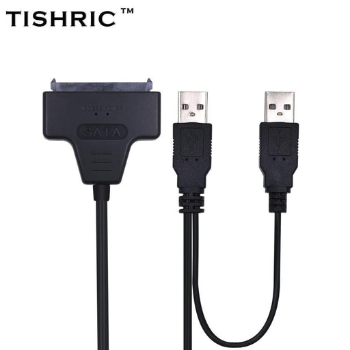 Tishric Usb 2.0 To 7 15 22Pin Sata Adapter Cables External Power For 2.5'' Ssd Hdd Hard Disk-Cables & Connectors-ShenZhen TISHRIC Factory Store-EpicWorldStore.com