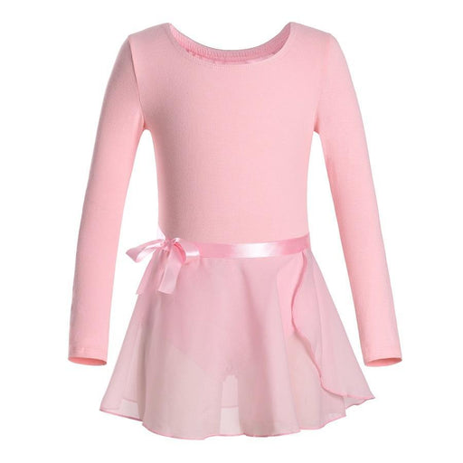 Toddler Ballet Dress Long Sleeves Athletic Dance Leotards Girls Gymnastics Kids Dance Wear-Stage & Dance Wear-danshow leotards Store-Black-S-EpicWorldStore.com