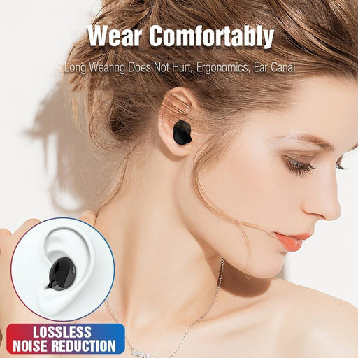 Tomkas Bluetooth Headphones Tws Earbuds Wireless Bluetooth Earphones Stereo Headset Bluetooth-Bluetooth Earphones & Headphones-Tomkas Official Store-Black Red-EpicWorldStore.com