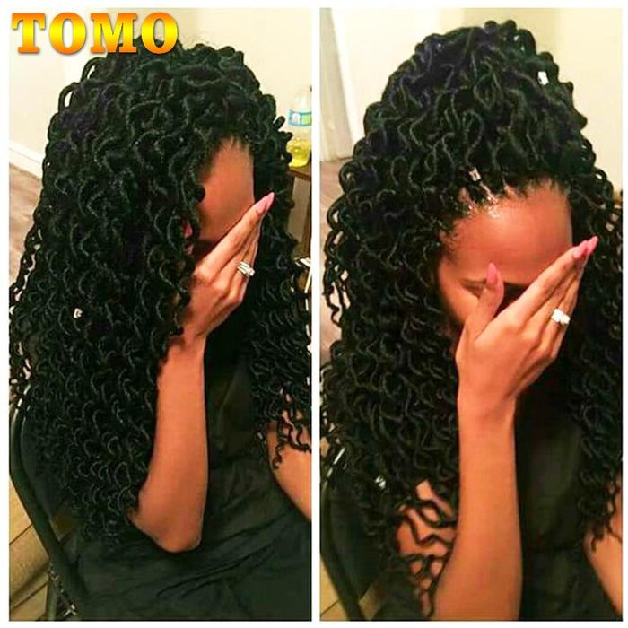 Tomo 24 Roots 18inch Goddess Faux Locs Curly Crochet Braids Hair
