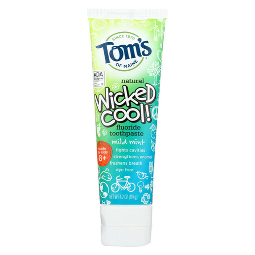 Tom'S Of Maine Toothpaste - Wicked Cool - Flouride - Kids - Mild Mint - 4.2 Oz - Case Of 6-Eco-Friendly Home & Grocery-Tom's Of Maine-EpicWorldStore.com