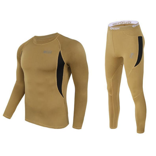 Top Quality New Thermal Underwear Men Underwear Sets Compression Fleece Sweat Quick Drying Thermo-Underwear-Shop3874118 Store-Black-M-EpicWorldStore.com