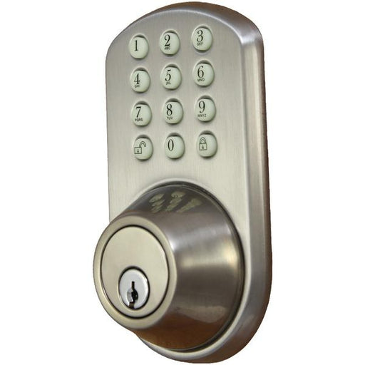 Touchpad Electronic Dead Bolt (Satin Nickel)-Surveillance Safety & Security-MILOCKS(R)-EpicWorldStore.com