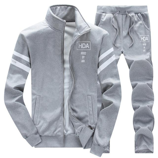 Tracksuit Mens Hoodie Fleece Sportswear Warm Tracksuits Sweat Homme Casual Men Tracksuit Sweatshirt-Men's Sets-BOOERJUE Men's Store-11 Gray Suit-M-EpicWorldStore.com