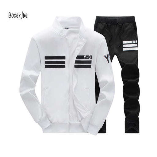 Tracksuit Mens Hoodie Fleece Sportswear Warm Tracksuits Sweat Homme Casual Men Tracksuit Sweatshirt-Men's Sets-BOOERJUE Men's Store-11 Navy Suit-M-EpicWorldStore.com