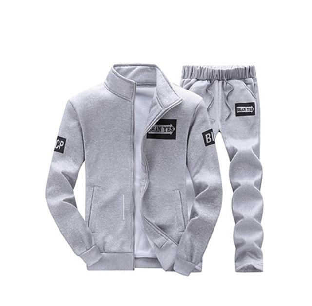 Tracksuit Mens Hoodie Fleece Sportswear Warm Tracksuits Sweat Homme Casual Men Tracksuit Sweatshirt-Men's Sets-BOOERJUE Men's Store-22 Gray Suit-M-EpicWorldStore.com