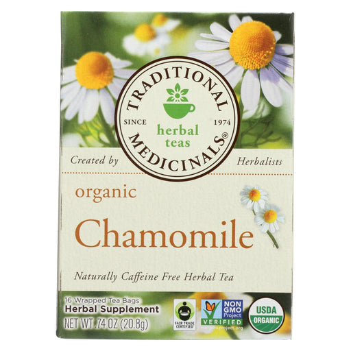 Traditional Medicinals Organic Chamomile Herbal Tea - Caffeine Free - Case Of 6 - 16 Bags-Eco-Friendly Home & Grocery-Traditional Medicinals-EpicWorldStore.com