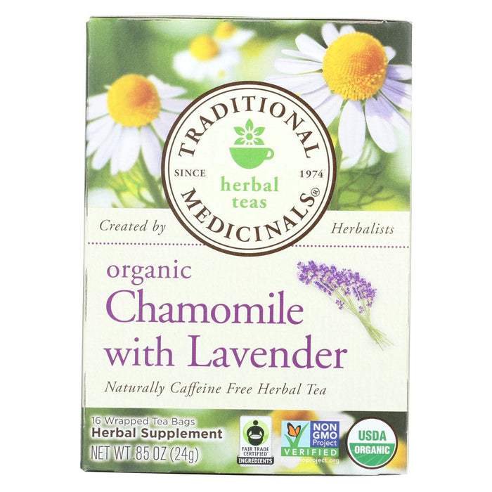 Traditional Medicinals Organic Chamomile With Lavender Herbal Tea - Caffeine Free - Case Of 6 - 16-Eco-Friendly Home & Grocery-Traditional Medicinals-EpicWorldStore.com
