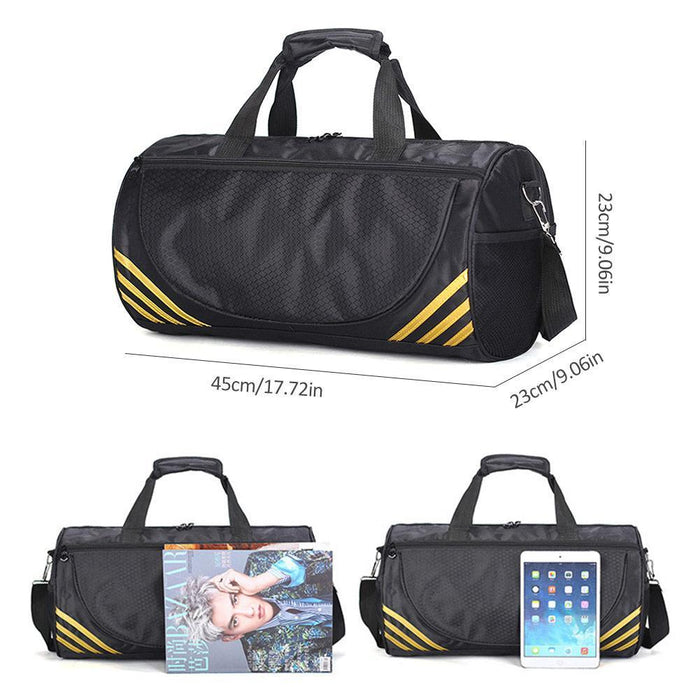 712b93440a5b Training Gym Bags Fitness Travel Outdoor Sports Bag Handbags Shoulder Dry  Wet Shoes For Women Men
