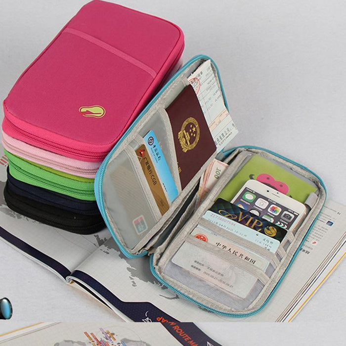 27526862d25d Travel Document Organizer Bag Travel Wallets With Passport Cover ...