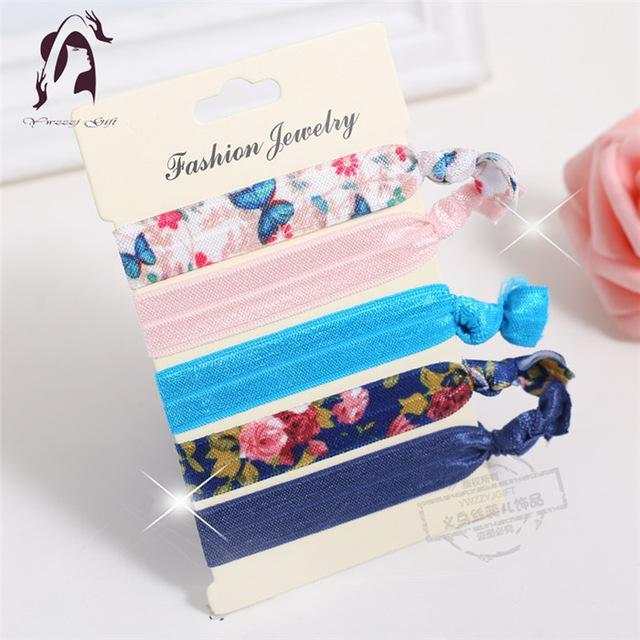 Trendy Summer Elastic Women Hair Accessories Tassel Hairband Jewelry Hand Band For Girls 5Pcs/Pack-Accessories-JUNFU Outlet Store-HB070-EpicWorldStore.com