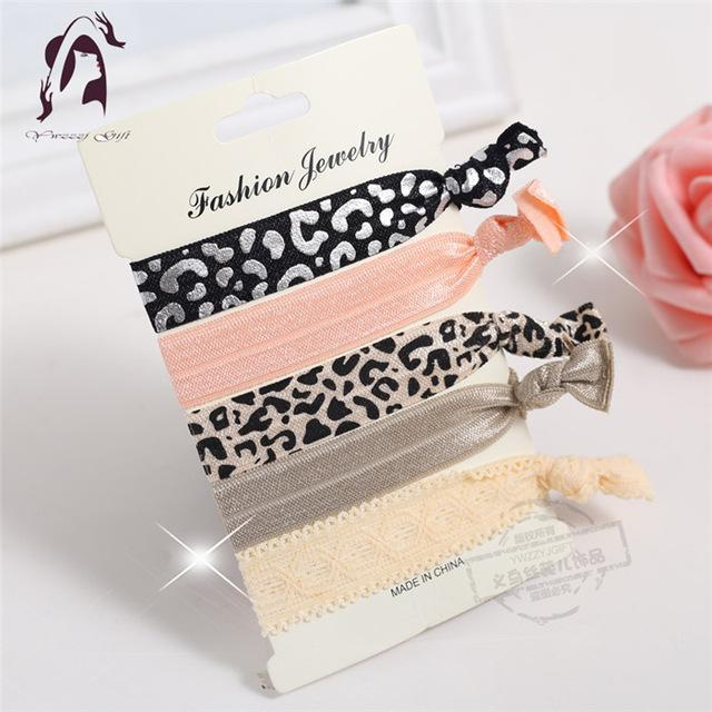 Trendy Summer Elastic Women Hair Accessories Tassel Hairband Jewelry Hand Band For Girls 5Pcs/Pack-Accessories-JUNFU Outlet Store-HB108-EpicWorldStore.com