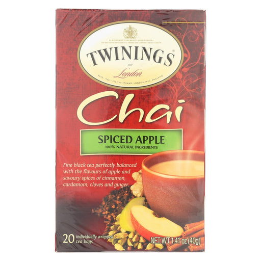 Twining'S Tea Chai - Apple Spiced - Case Of 6 - 20 Bags-Eco-Friendly Home & Grocery-Twinings Tea-EpicWorldStore.com