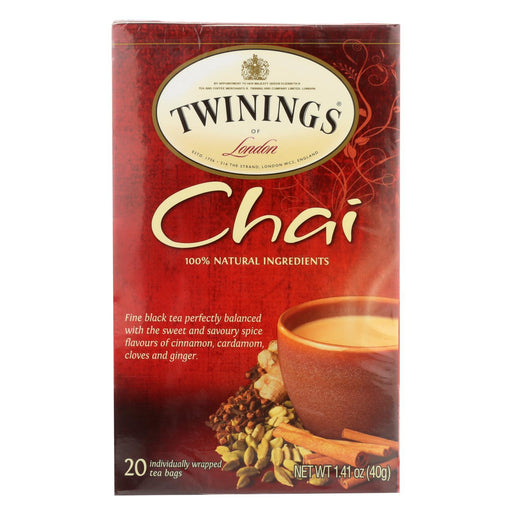 Twining'S Tea Chai - Case Of 6 - 20 Bags-Eco-Friendly Home & Grocery-Twinings Tea-EpicWorldStore.com