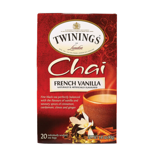 Twining'S Tea Chai - French Vanilla - Case Of 6 - 20 Bags-Eco-Friendly Home & Grocery-Twinings Tea-EpicWorldStore.com