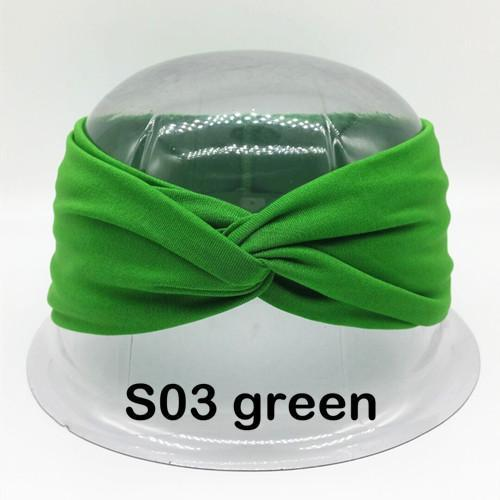 Twist Turban Headband For Women Bows Elastic Sport Hairbands Head Band Yoga Headbands Headwear-Accessories-BIRDS-UP Store-S03 green-EpicWorldStore.com
