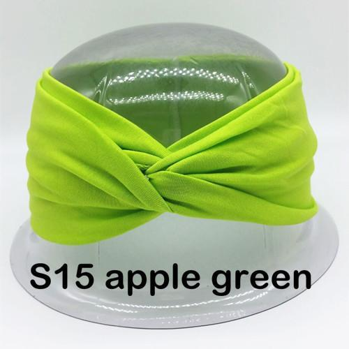 Twist Turban Headband For Women Bows Elastic Sport Hairbands Head Band Yoga Headbands Headwear-Accessories-BIRDS-UP Store-S15 appale green-EpicWorldStore.com