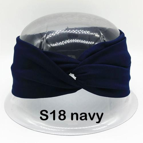 Twist Turban Headband For Women Bows Elastic Sport Hairbands Head Band Yoga Headbands Headwear-Accessories-BIRDS-UP Store-S18 navy-EpicWorldStore.com