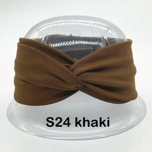 Twist Turban Headband For Women Bows Elastic Sport Hairbands Head Band Yoga Headbands Headwear-Accessories-BIRDS-UP Store-S24 khaki-EpicWorldStore.com