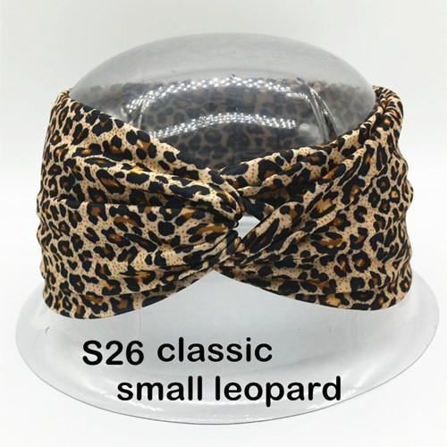 Twist Turban Headband For Women Bows Elastic Sport Hairbands Head Band Yoga Headbands Headwear-Accessories-BIRDS-UP Store-S26 samall leopard-EpicWorldStore.com