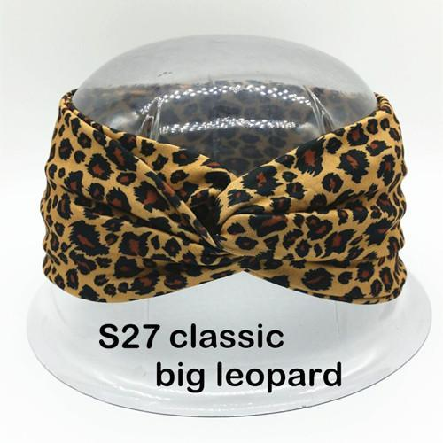 Twist Turban Headband For Women Bows Elastic Sport Hairbands Head Band Yoga Headbands Headwear-Accessories-BIRDS-UP Store-S27 big leopard-EpicWorldStore.com