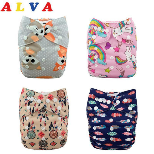 U Pick Alvababy Washable 1Pc Cloth Diaper With 1Pc Microfiber Insert Reusable Baby Cloth Nappy For-Baby Care-ALVABABY Official Store-H079-EpicWorldStore.com