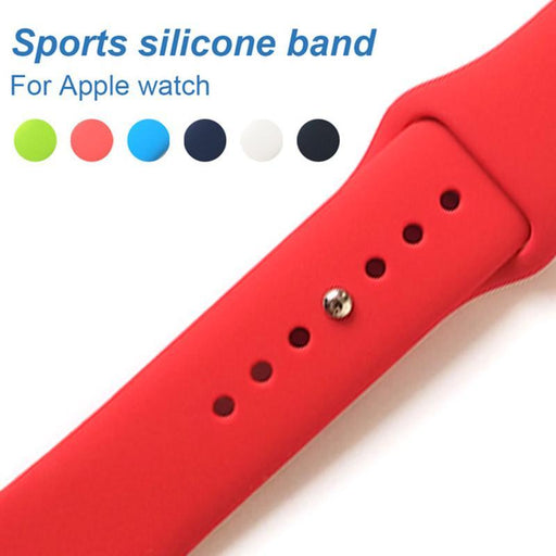Uebn Sports Silicone Band For Apple Watch Series 3 / 2 Replace Bracelet Strap Watchband Watchstrap-Watch Accessories-UEBN watchband Store-Black-38MM SM-EpicWorldStore.com