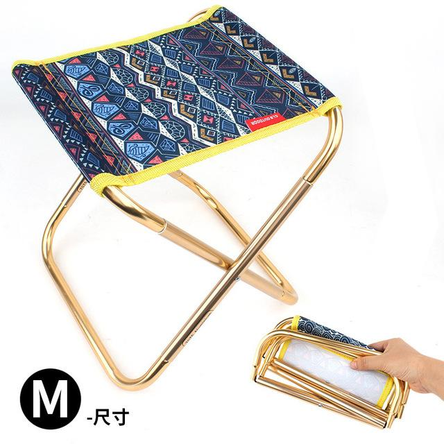 Alloy Aluminum Portable Folding Stools Seat Outdoor Picnic Collapsible Chair