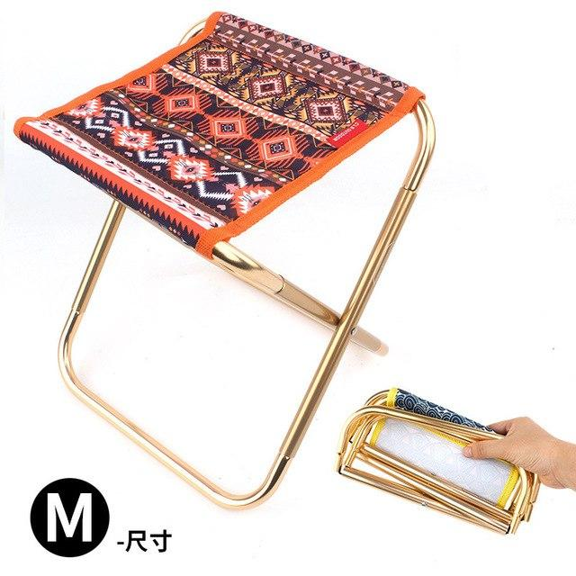 Excellent Ultra Light Aluminum Alloy Outdoor Portable Folding Stool Foldable Fishing Camping Chair Picnic Ibusinesslaw Wood Chair Design Ideas Ibusinesslaworg