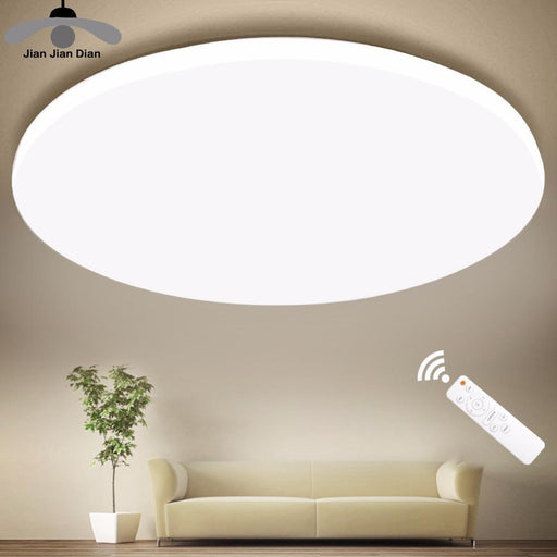 Ultra Thin Led Ceiling Led Ceiling Light Lighting Fixture Modern Lamp Living Room Bedroom Kitchen-Ceiling Lighs & Fans-JJD Lighting Store-Diameter 20cm-12W-RC Dimmable-EpicWorldStore.com