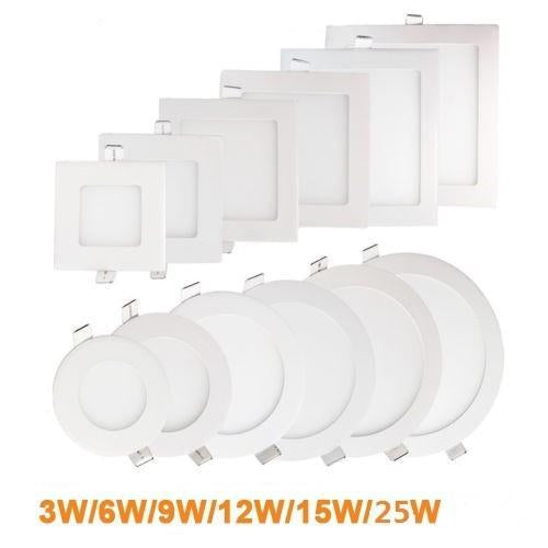 Ultra Thin Led Panel Light Recessed Led Ceiling Light Spot Down Light With Driver Ac85-265V Warm-Ceiling Lighs & Fans-Shenzhen Katie Trading Store-White-3w-EpicWorldStore.com