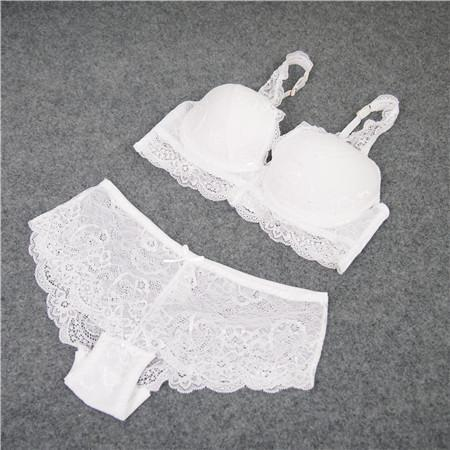 Underwear Lace Bra Set Deep V-Neck Push Up To Collect The Furu Adjustable 4 Breasted-Bra & Brief Sets-Kris Wu Lingerie Store-white-70A-EpicWorldStore.com