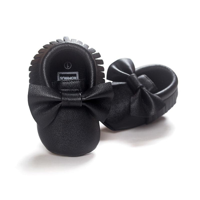 Unisex Baby Girls Boy 0-18Months Toddlers Soft Sole Shoes Tassel Pu Leather  Crib Bow c740aa955eac
