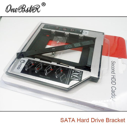 Universal Second 2.5'' Hdd/Ssd Caddy 9.5Mm Sata To Sata Hard Drive Adapter For Laptop Cd Dvd Optical-Industrial Computer & Accessories-ONEBSTR Official Store-EpicWorldStore.com