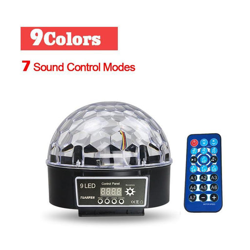 Upgrades Crystal Magic Ball Led Stage Lamp 7 Voice Control Modes 9 Colors Stage Lighting Disco Laser-Commercial Lighting-MingHao Lighting Store-EU Plug-EpicWorldStore.com