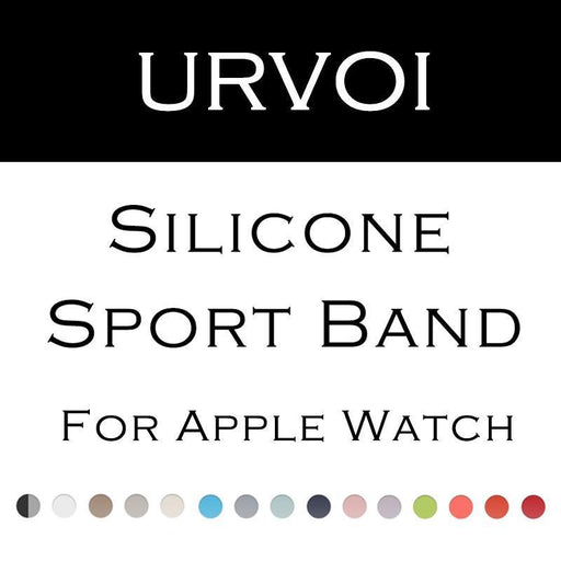 Urvoi Sport Band For Apple Watch Series 3 2 1 With Pin-And-Tuck Closure Silicone Strap For Iwatch-Watch Accessories-CRESTED Official Store-Midnight Blue-38mm SIM-EpicWorldStore.com