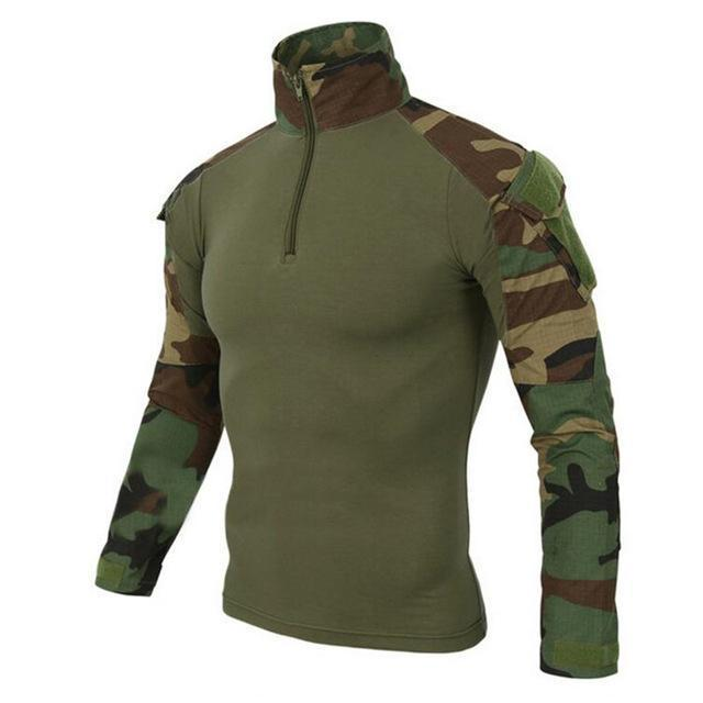 Us Army Tactical Military Uniform Airsoft Camouflage Combat-Proven Shirts Rapid Assault Long-Work Wear & Uniforms-WOLF ENEMY Terminator Gear Store-Woodland camo-S-EpicWorldStore.com