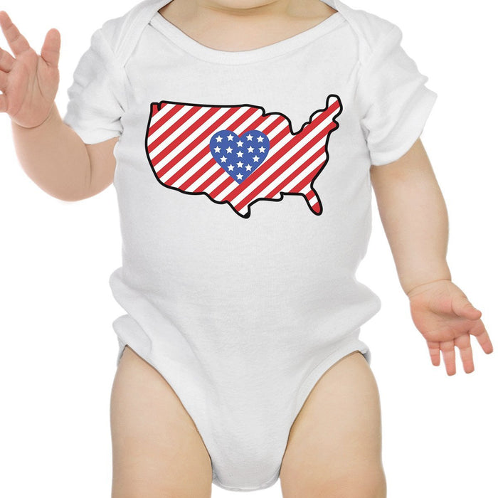 Cute Usa Map.Usa Map Cute 4th Of July Decorative Cute Baby Bodysuit New Mom