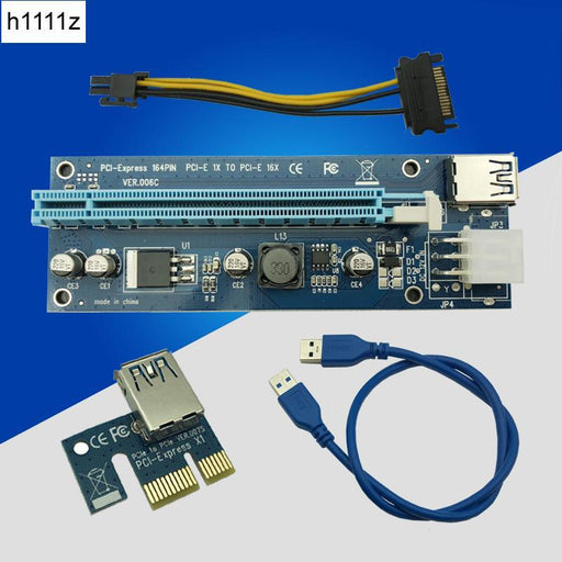 Usb 3.0 Pci-E Express 1X To16X Extender Riser Card Adapter With 60Cm Usb 3.0 Extender Cable For-Computer Components-Bitcon Miner Mining Store-EpicWorldStore.com