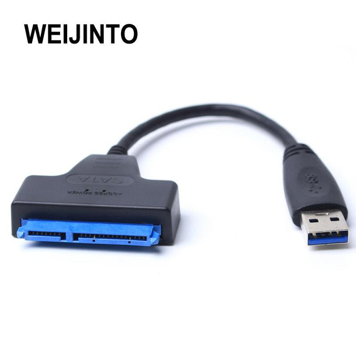 "Usb 3.0 To Sata Adapter Converter Cable 22Pin Sataiii To Usb3,0 Adapters For 2.5"" Sata Hdd Ssd-Cables & Connectors-WEIJINTO Store-EpicWorldStore.com"