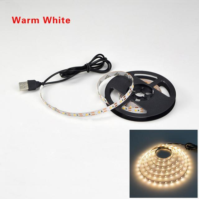 detailed look 60c09 ac76f Usb Powered Dc 5V Led Strip Light 2835 Rgb / White/ Warm White Waterproof  Tape Led Lamp 1M 2M 3M