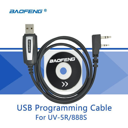 Usb Programming Cable For Baofeng Uv-5R Driver With Cd Software Suitable For Baofeng Uv-82 Bf-888S-Communication Equipments-Baofeng Store-EpicWorldStore.com